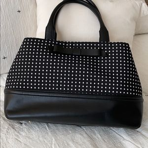 Kate spade black polka dot handbag